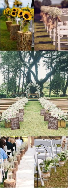 country rustic wedding aisle decoration ideas #wedding #weddingideas #weddingdecor