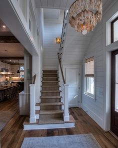 Interior Design Ideas Foyer with plank walls and reclaimed plank floors.