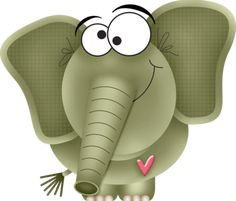 """Photo from album """"""""I Heart U"""""""" on Yandex. Cartoon Elephant, Elephant Love, Elephant Art, Elephant Illustration, Cute Animal Illustration, Cute Images, My Images, Free Digital Scrapbooking, Colouring Pages"""
