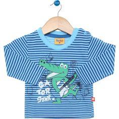 Camiseta Manga Longa Infantil Rolú Marinheiro Azul-Celeste