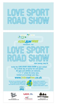 Leaflet design by The Usual Studio for local kids charity Kids Run Free. #leaflet #theusualstudio