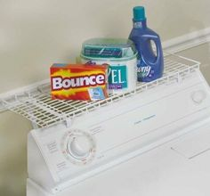 Household Over Washer Dryer Laundry Room Storage Shelf White Space Saver Cleaner