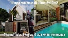 Rumah Minimalis di lahan 6x12m2 ada Kolam renangnya House Design, Mansions, House Styles, Outdoor Decor, Home Decor, Decoration Home, Manor Houses, Room Decor, Villas