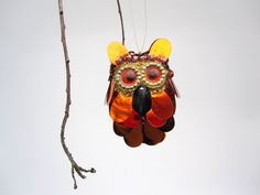 Hey, I found this really awesome Etsy listing at https://www.etsy.com/listing/118914617/owl-ornament-woodland-owl-in-shiny
