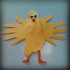 Kyckling av fot och händer Craft Activities For Kids, Preschool Crafts, Toddler Activities, Projects For Kids, Art Projects, Crafts To Do, Crafts For Kids, Arts And Crafts, Easter Art