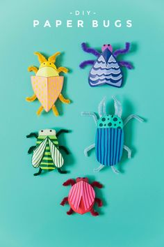 Make these fun and simple DIY paper bugs with your kiddos. You only need a few supplies and your kids can get creative with creating different bugs. Fun Crafts To Do, Paper Crafts For Kids, Diy Paper, Projects For Kids, Diy For Kids, Easy Crafts, Arts And Crafts, Craft Projects, Simple Paper Crafts