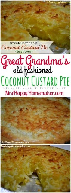 Old fashioned heritage recipes are the very best. This Coconut Custard Pie is just that…. the recipe was handed down to me by my Great Grandmother & I'm passing it on to all of you. We call it the best ever 'round these parts Kokos Desserts, Coconut Desserts, Köstliche Desserts, Coconut Recipes, Baking Recipes, Dessert Recipes, Old Fashioned Coconut Custard Pie Recipe, Best Coconut Pie Recipe, Buttermilk Coconut Pie Recipe