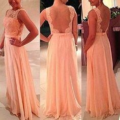 Evening Party Dress 2017 Summer Fashion Women O-Neck Sleeveless Ball Gown Pink Chiffon Dress Vestidos Elegant Ladies Long Dress #Affiliate