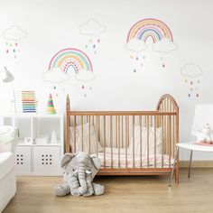 Rainbow Room Kids, Rainbow Bedroom, Rainbow Nursery Decor, Rainbow Girls Rooms, Rainbow Baby, Girl Bedroom Walls, Nursery Room, Girl Room, Nursery Furniture