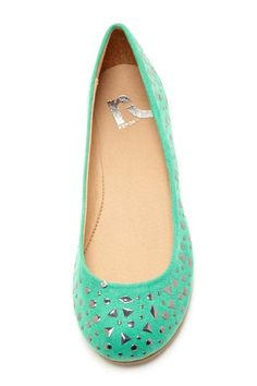 Report Aloise Studded Flat... I'm not saying you should get these necessarily, but it would be a cute pop of color with an otherwise neutral outfit.