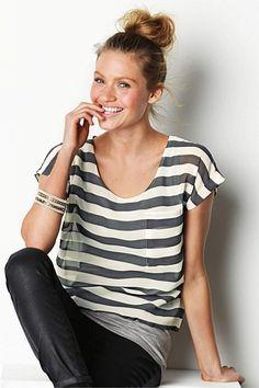 Women's Tops - Next Stripe Layer Top