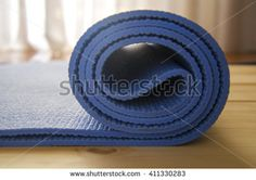 Close up of mat for yoga, fitness, pilates