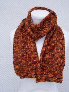 Echarpe ou snood rouille en laine