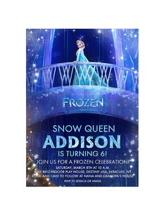Hey, I found this really awesome Etsy listing at https://www.etsy.com/listing/181096340/disney-frozen-birthday-party-invitation