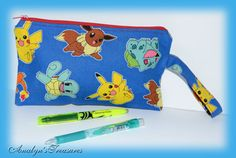 Pokemon Pencil Case PokemonPencil Pouch Pencil by www.etsy.com/shop/analynstreasures