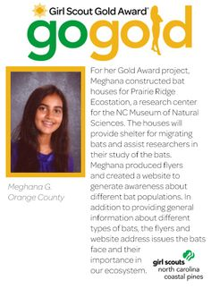 join us in congratulating meghana on earning her girl scout gold award this girl scout. Black Bedroom Furniture Sets. Home Design Ideas