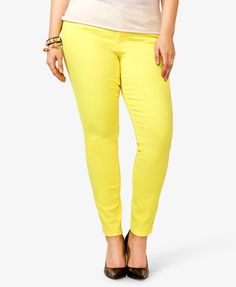 Plus size colored stretch skinny jeans – Global fashion jeans models