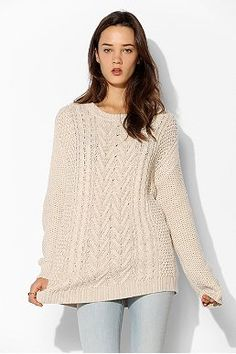 Staring At Stars Fuzzy Geo Sweater - Urban Outfitters