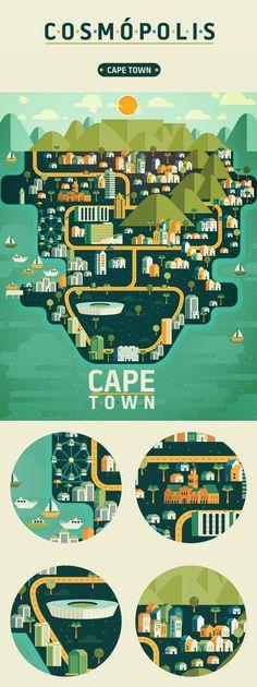 #CapeTown Illustration made by graphic designer Aldo Crusher.
