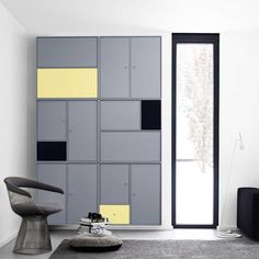 Modern grey modular funiture system by Montana Modular Furniture, My Furniture, Cabinet Furniture, Furniture Styles, Furniture Design, Montana Furniture, Montana Living, Armoire, Cupboard Storage