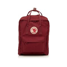 Fjällräven Kanken backpack ($65) ❤ liked on Polyvore featuring bags, backpacks, accessories - bags, fjällräven, red bag, padded bag, padded backpack and fjallraven bag