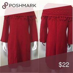 Liz Claiborne 3/4 sleeve cowl neck sweater dress In good condition Liz Claiborne Dresses