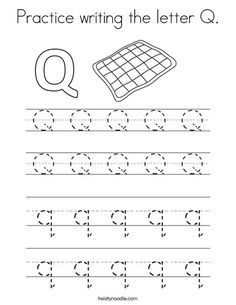 Practice Writing The Letter Q Coloring Page From TwistyNoodle