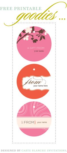 Free Printable Goodies - Carte Blanche Invitations - Love. Obsess. Inspire.