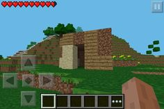 Very First #MInecraft house made on Minecarft #pocket #edition #MinecarftPE just like yours Sam