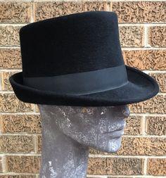 cb4d5c0422a Vintage Pierre Cardin Herbert Johnson London Ladies Black Fur Felt Fedora  Hat 7