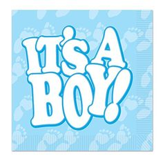 Beistle Its A Boy Luncheon Napkins Light BlueWhite ** More info could be found at the image url. (This is an affiliate link)