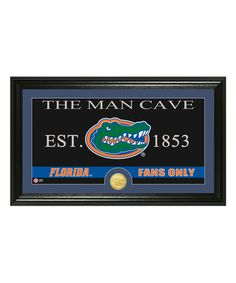 Look at this Florida Gators 'The Man Cave' Bronze Coin Wall Sign on #zulily today!