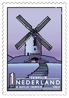 Windmill Drawing, Simple Line Drawings, Rare Stamps, Interesting Buildings, Le Moulin, Stamp Collecting, Postage Stamps, France, Netherlands