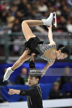 News Photo : Yumeng Gao and Zhong Xie of China compete in the...