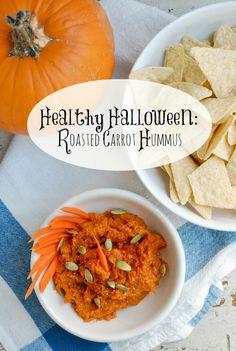 Healthy Halloween Snacks: Roasted Carrot Hummus #Spon