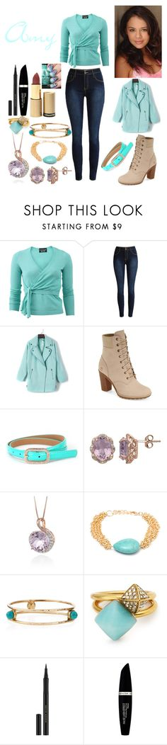 """""""Amy's Fall Outfit"""" by keih95 ❤ liked on Polyvore featuring Boutique Moschino, Timberland, Lord & Taylor, Belk & Co., Sevil Designs, Ashley Pittman, Michael Kors, Kevyn Aucoin, Max Factor and Dr.Hauschka"""