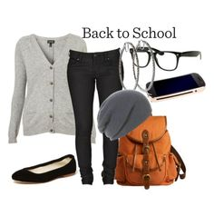 Back to school fashion!! Love the beanie