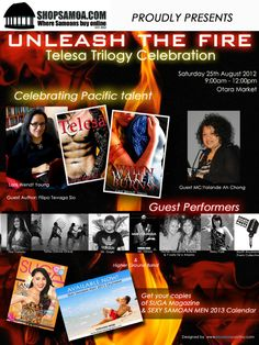 "Telesa Trilogy Celebration ""Unleash the Fire"" — a Shop Samoa event. Island Girl, Book Signing, Best Memories, Marketing, Shit Happens, Auckland, Celebrities, Burns, Fire"