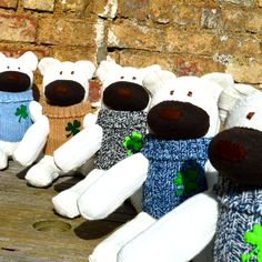 Unique gifts designed & handmade in Ireland. Our gifts can be personalised. Soft Toys Making, Handmade Toys, Gifts For Kids, Irish, Unique Gifts, Sewing, Red, How To Make, Crafts