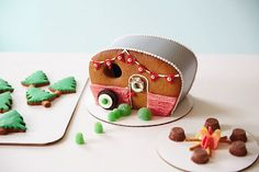 gingerbread house template Gingerbread house ideas from Hallmark artists Gingerbread House Template, Gingerbread House Designs, Gingerbread House Parties, Gingerbread Village, Christmas Gingerbread House, Noel Christmas, Gingerbread Man, Gingerbread Cookies, Christmas Cookies