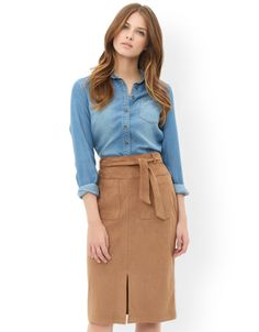 Leticia Suedette Skirt | Camel | Monsoon
