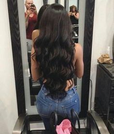 Brazilian Body Wave Hair 3 Bundles With Closure Grade Brazilian Virgin Hair Wavy Human Hair Bundles With Closure, Factory Cheap Price, DHL Worldwide Shipping,Store Coupons Available. Weave Hairstyles, Pretty Hairstyles, Straight Hairstyles, Curly Hair Styles, Natural Hair Styles, Hair Laid, Brunette Hair, Gorgeous Hair, Hair Inspiration