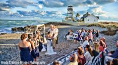 House of Refuge - Weddings, Stuart, FL Showing dramatic skies and cool colors for this wedding ceremony shot.