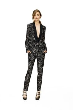 Tuxedo Jacket with black bottom-Marchesa Voyage | Resort 2015 Collection | Style.com