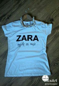 # ZARA# Ślubnie# Wieczór panieński # Wedding Gifts, Wedding Parties, Hens Night, Zara, T Shirts For Women, Impreza, Weeding, Diy, Ideas
