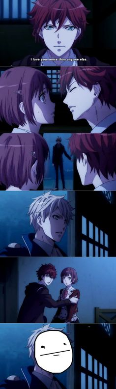 Dance with Devils- Lindo, Rem, and Ritsuka. Funny XD # Anime but i hate this moment so much :( my heart :(!! i lived lindo so much