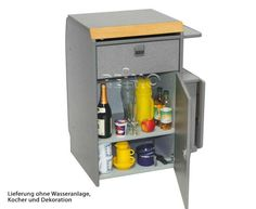 T4 Multivan Küchenteil Kompakt m. Ausschnitten anthrazit