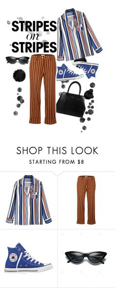 """""""at least i tried"""" by angel534 on Polyvore featuring JIRI KALFAR, Converse, stripesonstripes and PatternChallenge"""