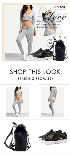 """""""ROMWE 7/10"""" by melissa995 ❤ liked on Polyvore"""