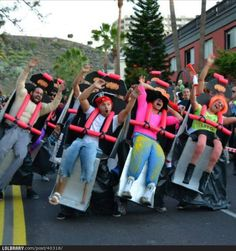 Roller coaster- Funniest costume I've ever seen!!